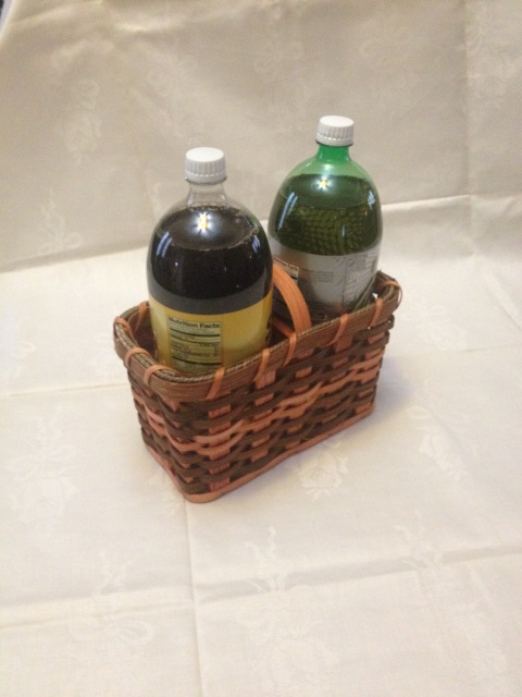 baskets double wine bottle 2 liter carrier. Black Bedroom Furniture Sets. Home Design Ideas